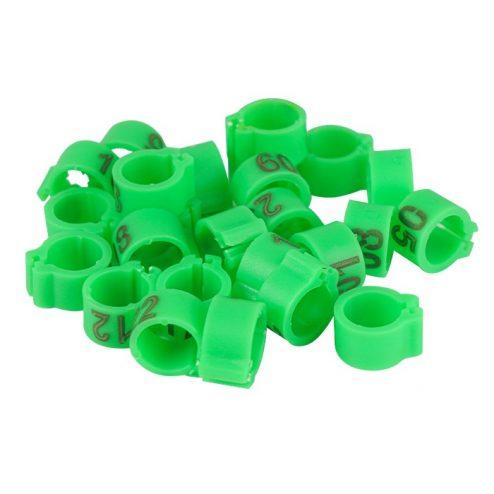 evcilpet.com - Civciv Bileziği 25'lik Paket Yeşil