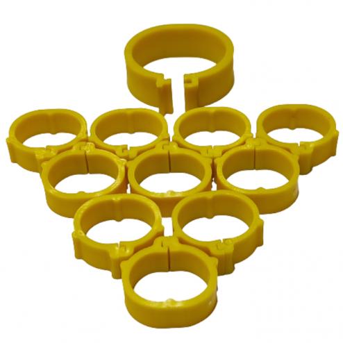 evcilpet.com - Tavuk Bileziği 18 mm 50'lik Paket Sarı