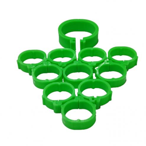 evcilpet.com - Tavuk Bileziği 24 mm 10'lı Paket Yeşil Renk