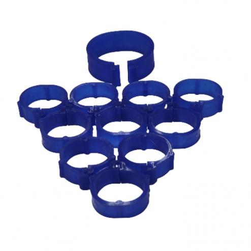 evcilpet.com - tavuk bilezigi 27 mm mavi renk 10 adet