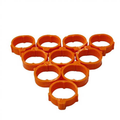 evcilpet.com - tavuk bilezigi turuncu 24 mm
